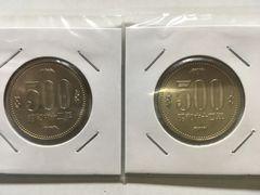 【500円白銅貨】昭和62・64年 特年セット 完全未使用