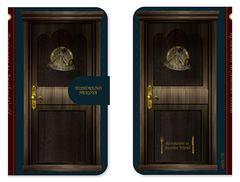 異世界食堂◆洋食のねこや◆手帳型◆扉型スマホケース◆