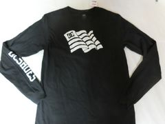 USA購入 アメカジ【DC SHOES】袖ロゴプリント ロングT US S BLK