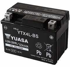 シールド型 バイク用バッテリー [YT4L-BS高性能版] YTX4L-BS