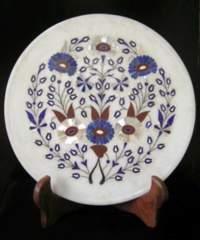 ☆即決☆*天然石装飾*大理石の飾り皿 25.5センチ