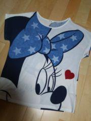 LL新品大きいサイズDisneyミニーチャンTシャツ白