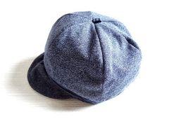 新品 レディース 帽子 キャスケット 紺 ネイビー