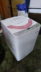SHARP 16年式 ES-GE60R-P 6kg洗い 3kg簡易乾燥機能付き洗濯機