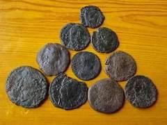 古代ローマ 銅貨 コイン 外国貨幣 アンティークコイン /10個/55