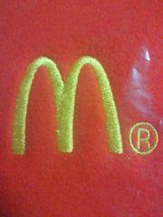 McDonald's マクドナルド 刺繍 オリジナル シンプル フリース ブランケット レッド