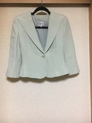 50スタ★美品★アルマーニ:シルク混7分袖ショートジャケット(7)