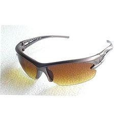 今回のみ490円★人気スポーツサングラス UV400 ブラウン