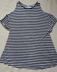 ◆SLY白黒ボーダー肩開きTシャツワンピ◆F