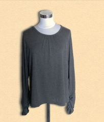 新品グレーロングTシャツ3L