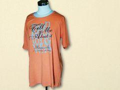オレンジTシャツ4L大きいサイズ