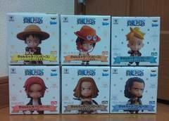 ワンピース きゅんキャラ ルフィ&白ひげ海賊団 赤髪海賊団 全6種
