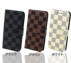 ★送料無料 Galaxy S8+ ( SC-03J / SCV35 ) 手帳型 格子ケース