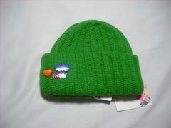 wb98 ROXY ロキシー ニット帽 極厚 グリーン