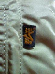 U.S.A. ミリタリー ALPHA アルファ MA-1 ジャケット ジャンパー ゴールド LARGE