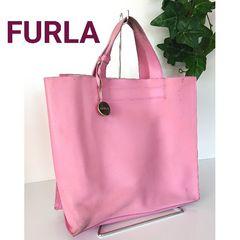 正規 FURLA レザー ハンドバッグ ミニトートバッグ ピンク
