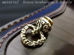 brass/アラベスク▼三角ドロップハンドル▼