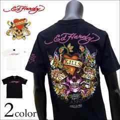Ed Hardy ラブキルプリントTシャツ 黒 M[72kh08]