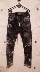 新品KMRIIケムリ Double Zip  Skinny Pants  2 BLACKWHITE