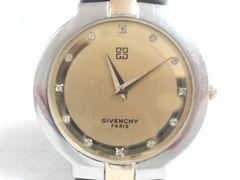 5561/ジバンシー★12ポイントダイヤモンドインディックス定価10万円メンズ腕時計