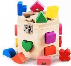 ★知育玩具★立体カラフルパズル 積み木 木製