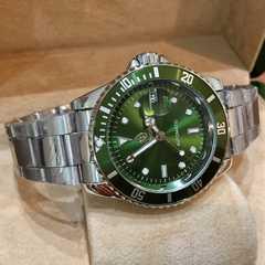ROLEXサブマリーナタイプ 自動巻き腕時計 グリーン