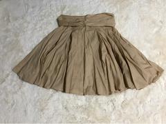 レディース ワイドフレアスカート Mサイズ ベージュ