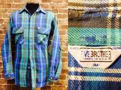 実寸S/タイト・USA製!70'sビンテージファイブブラザーヘビーネルシャツ古着ビッグマック