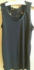 大きいサイズ Eprouve 刺繍キャミソール ブラック
