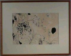 絵画 ペン画 高間惣七 『植物』 巨匠 真作保証
