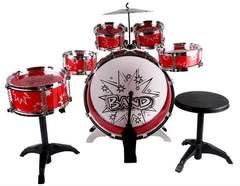 キッズ用ドラムセット 赤 太鼓いっぱい