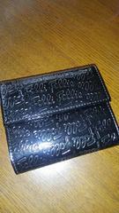 フォリフォリ 二つ折り財布《ブラック》 USED品