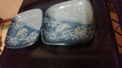 相馬焼き…四方向面割り皿…太郎右衛門窯印