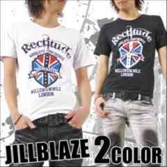 【JILL BLAZE】お兄.ロック.オラオラ♪ユニオンジャックTシャツホワイト