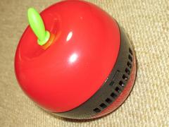 卓上クリーナー*ミニ掃除機*リンゴ型(レッド)消しカス