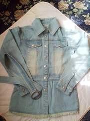 ラインストーン付きジーンズジャケット160