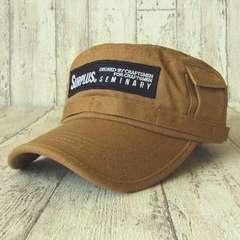 帽子♪SURPLUS ワッペン&プリント ワークキャップ*ベージュ*