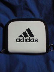 adidas アディダス 財布 ウォレット シンプル ホワイト 二つ折り ナイロン