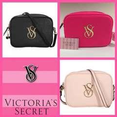 ヴィクトリアシークレット ビクトリア バッグ ポーチ 黒 ピンク
