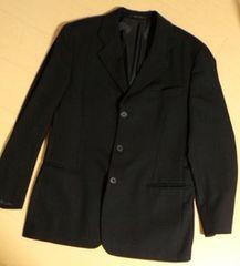 本物 EMPORIO ARMANI 50ブラック3ボタン紳士スーツ