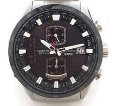 美品正規カシオ時計エディフィス電波時計EQW-A1100メンズクロノグラフCASIO