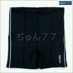 新品☆15号☆日本製POLO女性用スイムパンツ☆大きいサイズ★黒×白