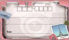 夏季sale☆A53/宛名シール☆カメラ《10枚》