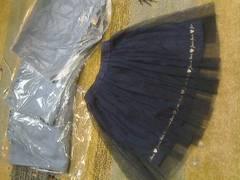 JENNIloveオーガンジー付きふわふわスカート新品同様