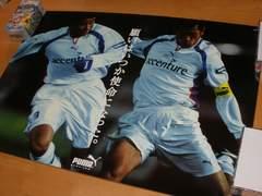 サッカー カズ&ゴン Pumaポスター1つ