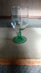 吹きガラス、コカ・コーラの刻名あり