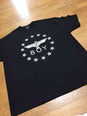 LA直輸入 BOYデザインプリントTシャツサイズ2XL黒ブラック