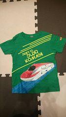 ユニクロ☆プラレールTシャツ E6系スーパーこまち 緑色 110 used