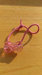 伊藤ハムノベルティハローキティヘアアクセサリーリボン薄いピンク