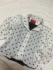 ドットシャツ☆キャミセット☆100